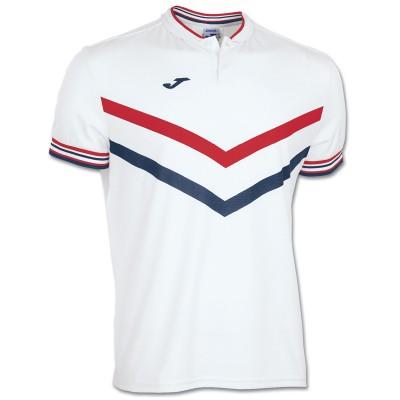 Tricou alb-roșu pentru bărbați JOMA POLO TERRA 100066.200