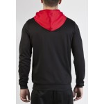 Joma jJACKET JUNIOR CREW HOODED 100245.106 BLACK-RED