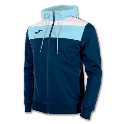 Joma JACKET JUNIOR CREW HOODED 100245.312 NAVY-SKY BLUE