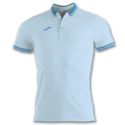 Tricou albastru deschis pentru bărbați JOMA POLO BALI II 100748.350