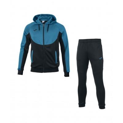 Trening albastru-negru cu glugă pentru bărbați JOMA ESSENTIAL 101019.116
