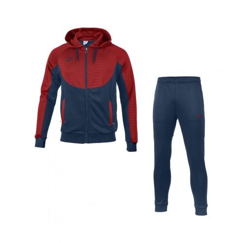 Trening bleumarin-roșu cu glugă pentru bărbați JOMA ESSENTIAL 101019.306