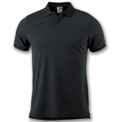 Tricou negru pentru bărbați JOMA POLO ESSENTIAL 101062.100