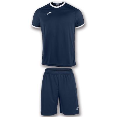 Set echipament fotbal alb-bleumarin pentru copii JOMA ACADEMY 101097.302