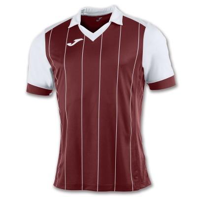 Tricou fotbal vișiniu-alb pentru bărbați JOMA GRADA 100680.672
