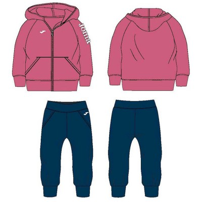 Joma HOODED TRACKSUIT 600022.503 PINK-NAVY