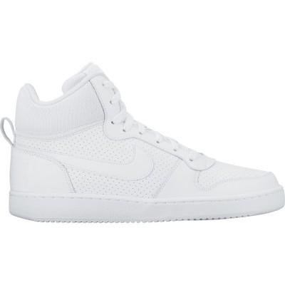 Pantofi sport albi pentru bărbați Nike COURT BOROUGH MID 838938-111