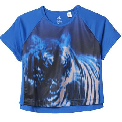 Tricou albastru pentru femei Adidas YG TR BEAST TEE BQ2890