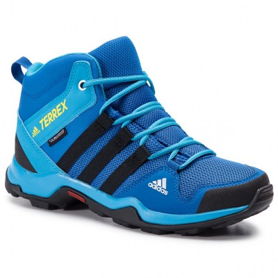 Adidași albaștri pentru femei Adidas TERREX AX2R MID CP K BC0673
