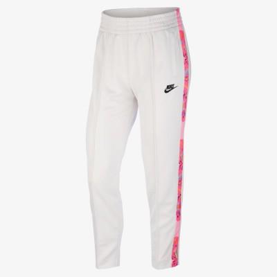 Pantaloni albi pentru femei Nike W NSW FTR FEM PANT HWPK BV2728-030