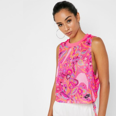 Tricou roz pentru femei NIKE FEM TANK AOP BV2802-639