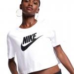 Tricou alb pentru femei Nike W NSW TEE ESSNTL CRP ICN FTRA BV6175-100