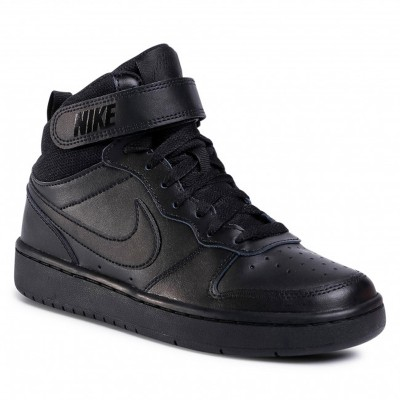 Pantofi sport negri pentru copii Nike COURT BOROUGH MID 2(GS) CD7782-001