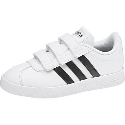 Pantofi sport albi pentru copii Adidas VL COURT 2.0 CMF C DB1837