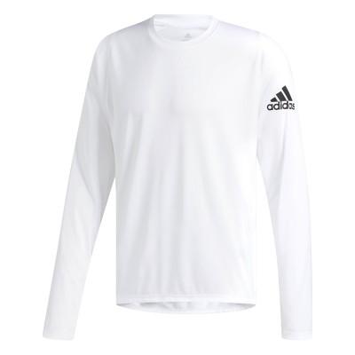 Bluză sport albă pentru bărbați Adidas FL_SPR X BOS LS DQ2847