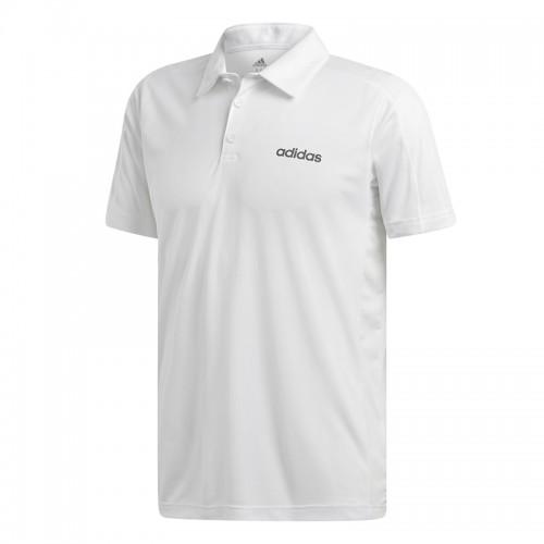 Tricou polo alb pentru bărbați Adidas D2M CCOOL POLO DT3049