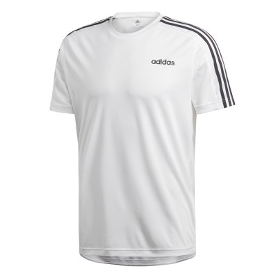 Tricou alb pentru bărbați Adidas D2M TEE 3S DU1242