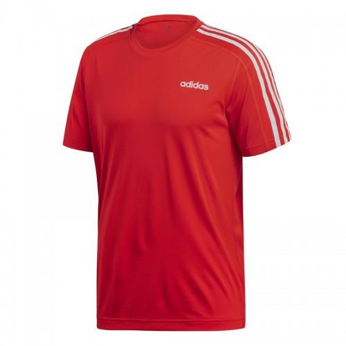 Tricou roșu pentru bărbați Adidas D2M 3-STRIPES TEE DU1244