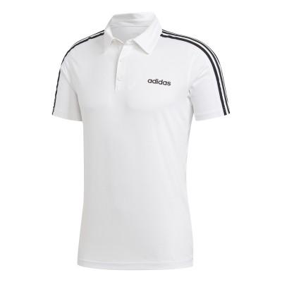 Tricou alb pentru bărbați Adidas D2M 3S POLO DU1258