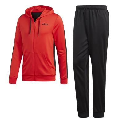 Trening roșu-negru Adidas MTS LIN FT HOOD DV2449