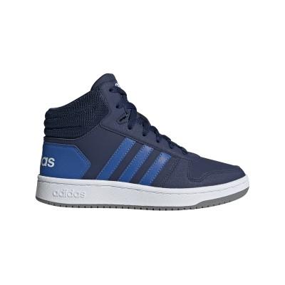 Pantofi sport albaștri pentru copii Adidas HOOPS MID 2.0 K EE6707