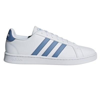 Pantofi sport albi pentru bărbați Adidas GRAND COURT F36403