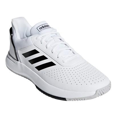 Pantofi sport albi pentru bărbați Adidas COURTSMASH F36718