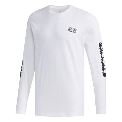 Bluză sport alba pentru bărbați Adidas M SCRBL LS T FM6098