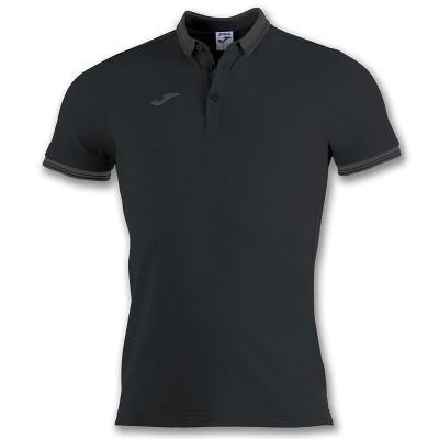 Tricou negru pentru bărbați Joma POLO BALI II 100748.100