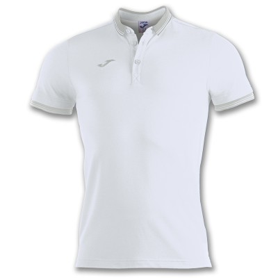 Tricou alb pentru bărbați JOMA POLO BALI II 100748.200