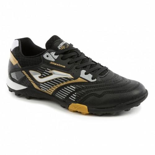 Pantofi sport negri-aurii pentru bărbați JOMA MAXIMA 901 MAXW.901.TF BLACK-GOLD TURF