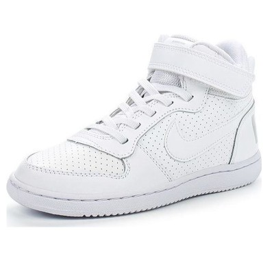 Pantofi sport albi pentru copii NIKE COURT BOROUGH MID PSV 870026-100