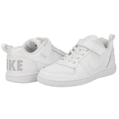 Pantofi sport albi pentru copii Nike COURT BOROUGH PSV 870025-100