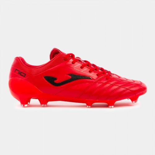 Ghete fotbal roșii pentru bărbați JOMA NUMERO -10 PRO 906 PN10W.906.FG RED FIRM GROUND
