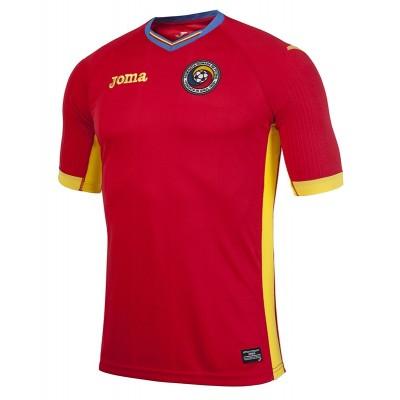 Tricou roșu pentru copii JOMA 2 F/A ROMANIA RED JR 101012.16