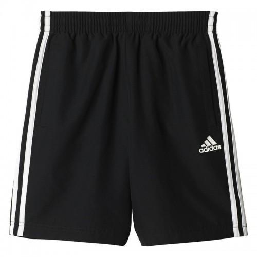 Șort negru pentru copii Adidas YB 3S WV SHORT BQ2828