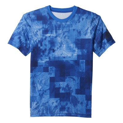Tricou albastru pentru copii Adidas YB T TOP TEE AY8025